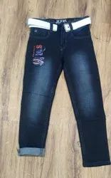 Party Wear Stretchable Kids Denim Jeans, Size: 22-40, Dry clean