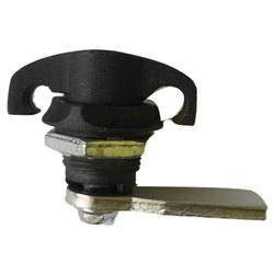 Lalith Knob / Cylinder Industrial Padlock, Padlock Size: 25mm, Black PC