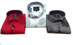 Floral Cotton Mens Trendy Printed Shirt