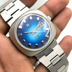 Vintage Men's Tissot Swiss Automatic seven Day Date 40mm Wrist Watch A9603