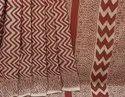 Exclusive Natural Bagru Dabu Hand Block Printed Cotton Saree.