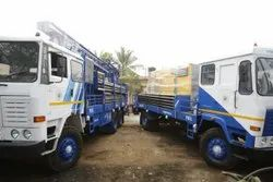 DTH 450 Water Well Drilling Rig With Support Truck