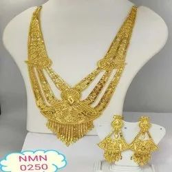 Gold Plated Rani Haar Necklace And Earing Jewellery Set For Women And Girl Bijoux 2