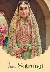 Eba Lifestyle Satrangi Georgette Embroidered Designer Suit Catalog