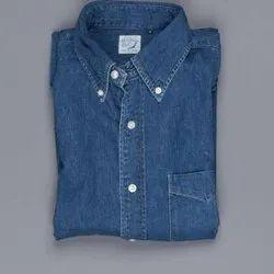 Linen Plain Used Mens Denim Shirts