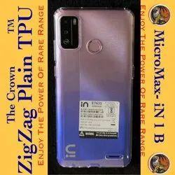 Micromax IN 1b Zigzag Plain TPU Mobile Cover, Size: 6.52 Inch