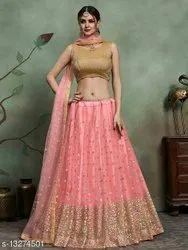 Pink Party Wear Beautiful Womens Lehenga Choli