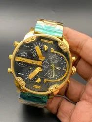Round Luxury(Premium) Diesel Watch For Men, For Personal Use