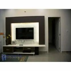 Wall Mounted PVC Designer TV Unit, For Home