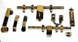 Brass Half Matt Door Kit Set, 14 Inch, Rod Thickness: 10 Mm