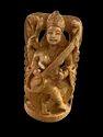 Saraswati Ji Wooden Murti 8 Inch