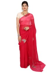 Red Party Wear Saree