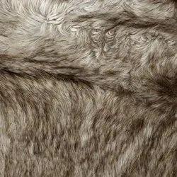 Plain Blue Faux Fur Fabric, For Industrial