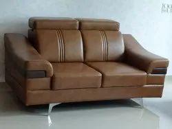 ADVANCE FURNITURE Wooden 2 Seater Sofa Set, Hall, Size: 5.5 Feet