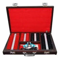 MS 66试镜设置红色黑色226镜头,带金属轮辋镜头套装,用于眼睛测试,包装类型:盒子