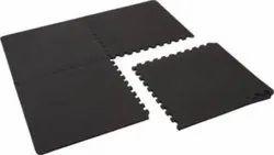 Black Rubber Interlocking Mat