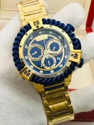Round Luxury(Premium) Invicta Watches For Men, For Personal Use