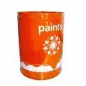 Chemicals Mild Steel Orange Printed Ms Paint Storage Drum, Capacity: 0-50 Litres