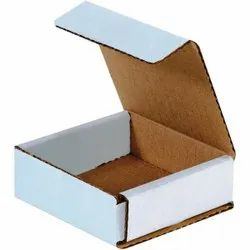 Single Wall 3 Ply Plain White Corrugated Packaging Box, Size(LXWXH)(Inches): 6
