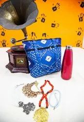 Blue Printed Cotton Hand Bags, Size/Dimension: Medium