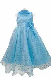 Blue Kids Party Wear Gown