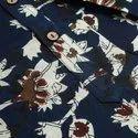 Janasya Men's Navy Blue Cotton Kurta(MEN5019)