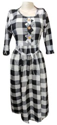 Ladies Designer Check Cotton Kurti, Wash Care: Machine wash