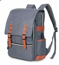 Gray Cotton BAG, Size/Dimension: 18 Inch