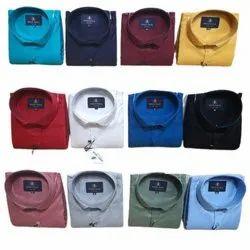Mens Full Sleeves Plain Cotton Shirts