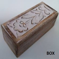 Brown Handcrafted Wooden Box, Size: 4 X 10 Inch