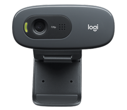 Black 720p Logitech Webcam C270, 1280 X 720 Plug And Play HD 720p Video Calling