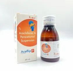 Aceclofenac I.P. 50 mg   Paracetamol I.P. 125 mg (Susp