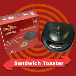 Sandwich Toaster Chef Pro Black, Power: 800 W