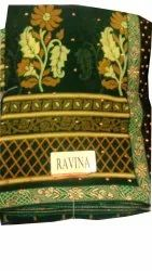 Ravina Casual Wear Gold Embroidered Renial Saree, Size: Full, 6 M ( With Blouse Piece)