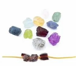 Birthstone Raw Nugget Drill Beads - 3mm Center Drilled Gemstone Beads