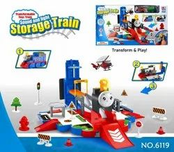 Wooden Multicolor 6119 Storage Train Transform And Play Toy