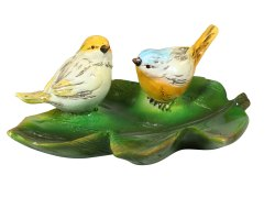 Polyresin Showpiece Small Tray With Two Birds PS23