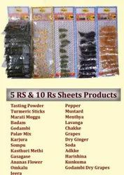 Spices And Dry Fruits sheet, Packet