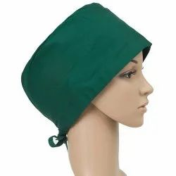 Round Green Hospital Surgical Cap
