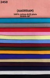 Aashram 100% Cotton Drill Plain Shirting Fabric