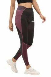 Nylon Blend Straight Fit Sports Gym Leggings, Size: Free Size