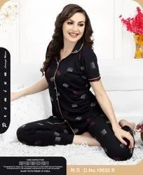 Cotton Girls And Ladies Night Suit