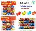 Pull Back Cars Mix Designs And Colours Playset Toy