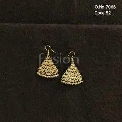 Fusion Arts Handmade Brass Earrings