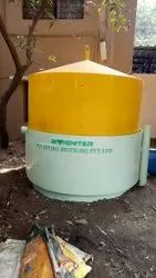 Manual 100kg/ Day  FRP  Floating Dome Portable Biogas Plant