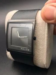 Square Analog Police Men Watch, For Personal Use