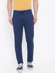Harbor N Bay Men Navy Blue Solid Straight- Fit Track Pant