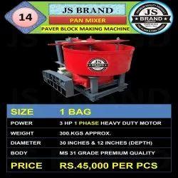 300 Kgs Pan Mixer Paver Block Making Machine