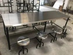 Stainless Steel 8 Seater Canteen Table