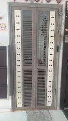 7 Feet Steel Security Door, Thickness: 5mm